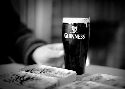 guinness at the bar